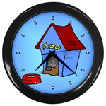 DOG HOUSE Pet Puppy Girls Women Kids Wall Clock