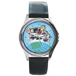 RV Camping Travel Trailer Motorhome Round Metal Watch