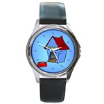 DOG HOUSE Pet Puppy Girls Women Kids Round Metal Watch
