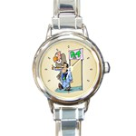 PET SHOP Vet Veterinarian Store Women Round Charm Watch