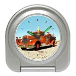 FIRE TRUCK Vintage Fireman Men Boys Desk Alarm Clock