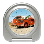 FIRE TRUCK Boys Vintage Fireman Men Desk Alarm Clock