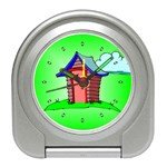 OUTHOUSE Porta Potty Bathroom Boy Men Desk Alarm Clock