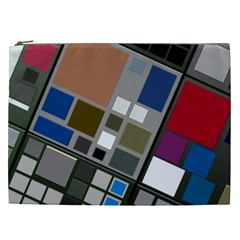 Abstract Composition Cosmetic Bag (xxl) by Samandel