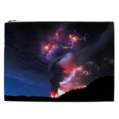 Volcano Lightning Wallpapers Flash Strom Cosmetic Bag (xxl)