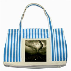Hurricane Striped Blue Tote Bag