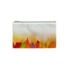 Autumn Leaves Colorful Fall Foliage Cosmetic Bag (small) by Samandel