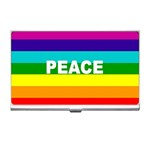PEACE Rainbow Flag Gifts  Business Name Card Holder Case