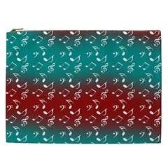 Red Teal Music Cosmetic Bag (xxl) by snowwhitegirl