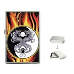 YIN YANG DRAGONS Tai Chi Design Flip Top Lighter
