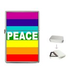 PEACE Rainbow Flag Gift Case Flip Top Lighter