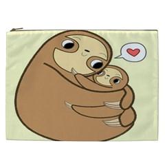 Sloth Cosmetic Bag (xxl) by Samandel