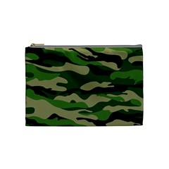 Green Military Vector Pattern Texture Cosmetic Bag (medium)