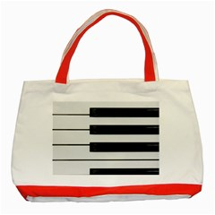 Keybord Piano Classic Tote Bag (red)