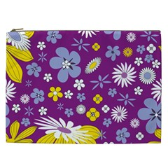 Floral Flowers Cosmetic Bag (xxl) by Samandel