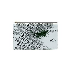 Montains Hills Green Forests Cosmetic Bag (small) by Alisyart