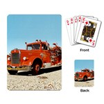 FIRE TRUCK Vintage Fireman Men Boys Playing Card