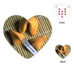 FORTUNE COOKIES Chef Bakery Women  Heart Playing Card