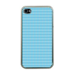Oktoberfest Bavarian Blue And White Small Diagonal Diamond Pattern Apple Iphone 4 Case (clear) by PodArtist