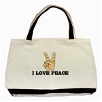 I LOVE PEACE Handbag Gifts Rare Classic Canvas Tote Bag
