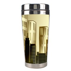 Architecture City House Stainless Steel Travel Tumblers by Samandel