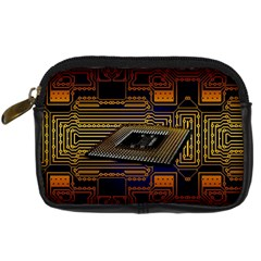 Processor Cpu Board Circuits Digital Camera Leather Case by Samandel