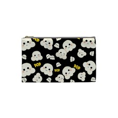 Cute Kawaii Popcorn Pattern Cosmetic Bag (small) by Valentinaart