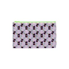 Little Witch Ghosts Pink Pattern Cosmetic Bag (xs) by snowwhitegirl
