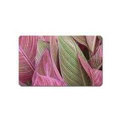 Pink Leaves Magnet (name Card) by snowwhitegirl