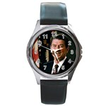 Official_Portrait_of_President_Reagan_1981 Round Metal Watch