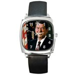 Official_Portrait_of_President_Reagan_1981 Square Metal Watch