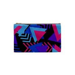 Memphis Pattern Geometric Abstract Cosmetic Bag (small)