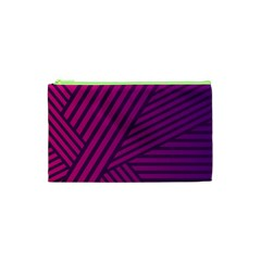 Pattern Lines Stripes Texture Cosmetic Bag (xs) by Sapixe