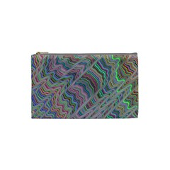 Psychedelic Background Cosmetic Bag (small)