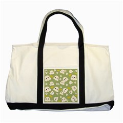 Cute Kawaii Popcorn Pattern Two Tone Tote Bag