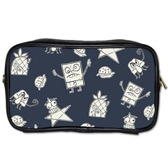 Doodle Bob Pattern Toiletries Bag (one Side) by Valentinaart