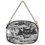Gothic Bat Art Chain Purse (One Side)