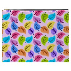 Colorful Leaves Cosmetic Bag (xxxl) by vintage2030