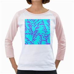 Branches Leaves Colors Summer Girly Raglan by Simbadda