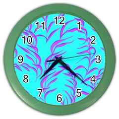 Branches Leaves Colors Summer Color Wall Clock by Simbadda