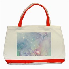 Wonderful Floral Design With Butterflies Classic Tote Bag (red)