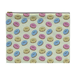 Donuts Pattern Cosmetic Bag (xl) by Valentinaart