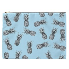 Pineapple Pattern Cosmetic Bag (xxl) by Valentinaart