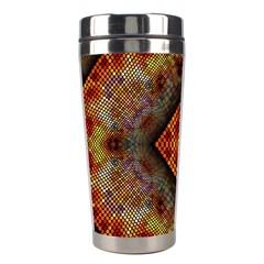 Autumn Kaleidoscope Art Pattern Stainless Steel Travel Tumblers by Simbadda