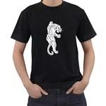 Tattoo Panther Art Vintage Men s Black T-Shirt