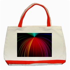 Background Color Colorful Rings Classic Tote Bag (red)