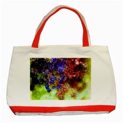 Splashes Of Color Background Classic Tote Bag (red)