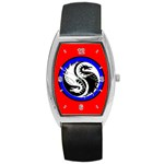 YIN YANG DRAGONS Art Design Tai Chi Barrel Metal Watch