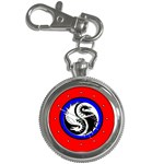 YIN YANG DRAGONS Art Design Tai Chi Key Chain Watch