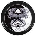 YIN YANG DRAGONS Tai Chi Art Design Wall Clock